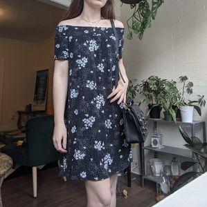 SO Off the Shoulder Floral Dress Spring